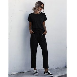 2 Piece Casual Outfit: Tee and Sweatpants